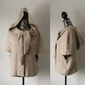 Anthropologie hooded poncho
